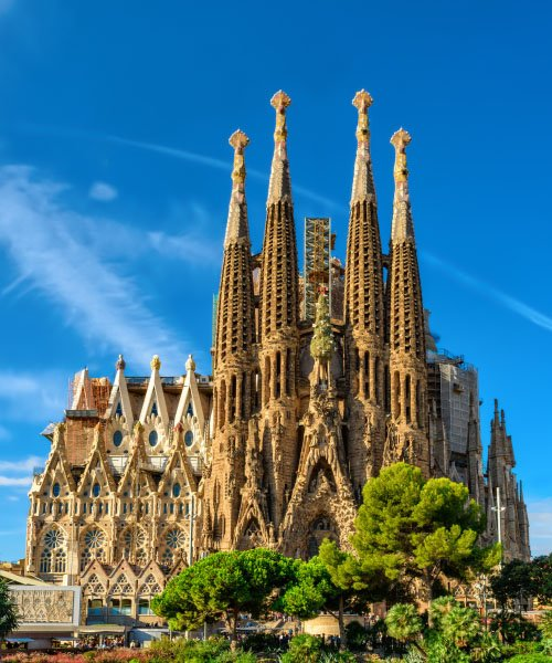 The cathedral of Sagrada Familia